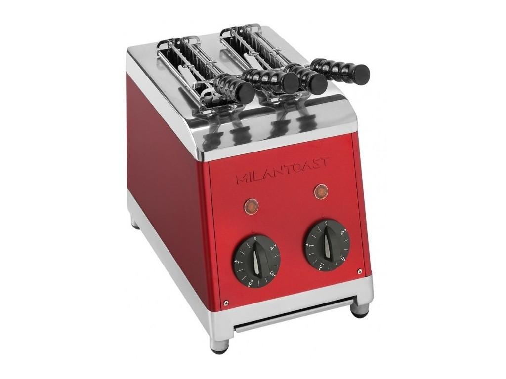 Milan tosti apparaat 2 tangs Rood