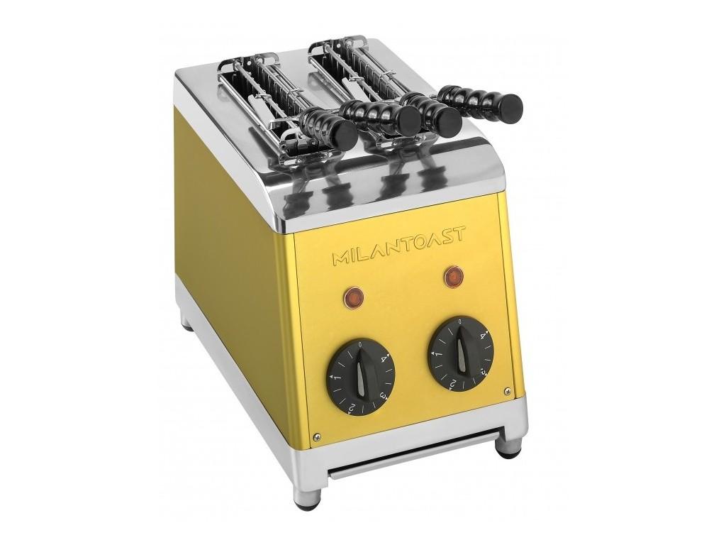 Milan tosti apparaat 2 tangs Goud
